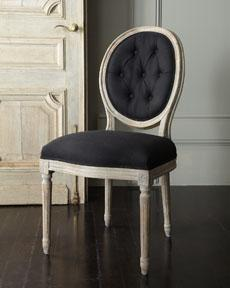 Horchow Furniture horchow collection - furniture - chairs - black linen chair