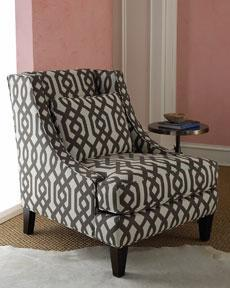 Ordinaire The Horchow Collection Furniture   Chairs   Massoud Gray Graphic Chair
