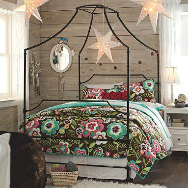 Pottery Barn Teen Maison Canopy Bed view full size & Anthropologie Italian Campaign Canopy Bed Look 4 Less!
