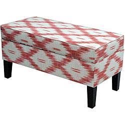 ... Storage Bench - Overstock.com link on pinterest view full size  sc 1 st  Decorpad & Jenny Santa Fe Red Upholstered Storage Bench - Overstock.com