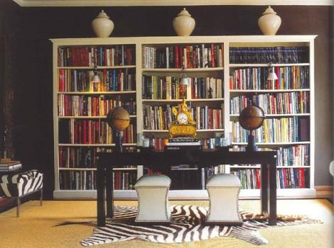 Black And White Library Contemporary Den Library Office