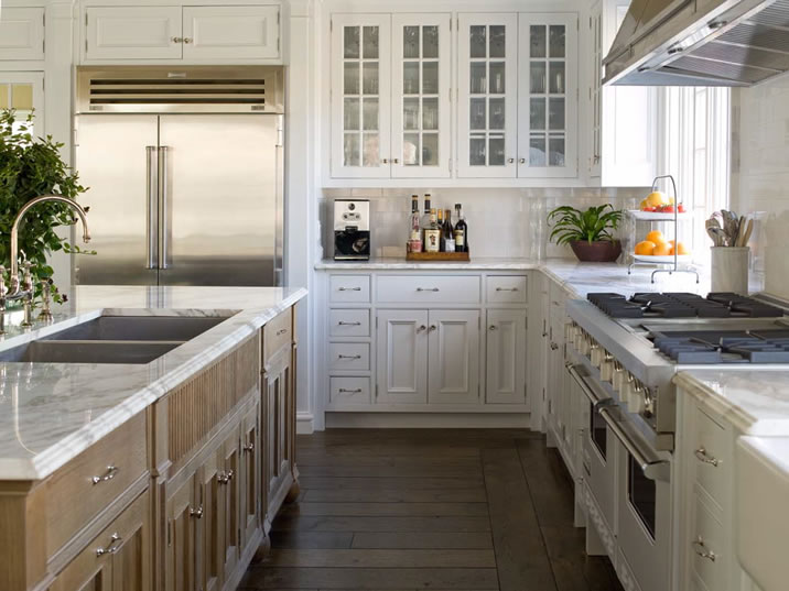 White Kitchen Oak Cabinets wire brushed oak cabinets design ideas