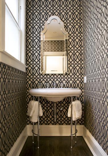 Du Barry Wallpaper Contemporary Bathroom Niche Interiors