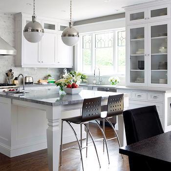 Super White Granite, Contemporary, kitchen, Brandon Barre Photography