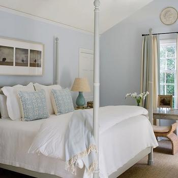 Gray Poster Bed, Cottage, bedroom, Phoebe Howard