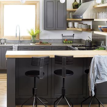 charcoal gray cabinets