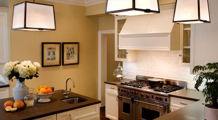 Island Prep Sink  Transitional  kitchen  Brown Design