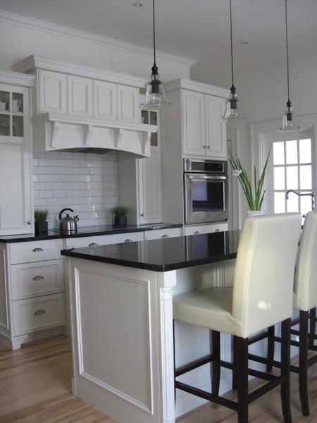 Bell Jar Pendants  Traditional  kitchen  Benjamin Moore White Dove