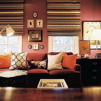 Mauve Walls, Transitional, living room, Lonny Magazine