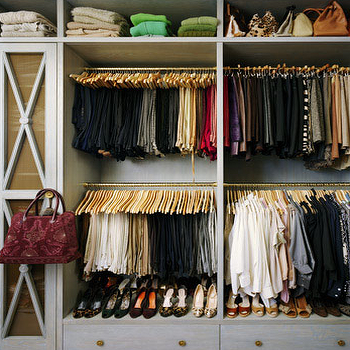 Well Organized Closet, Contemporary, closet, Annie Schlecter Photography