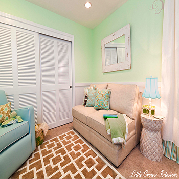 Nursery Sofa, Transitional, nursery, Little Crown Interiors