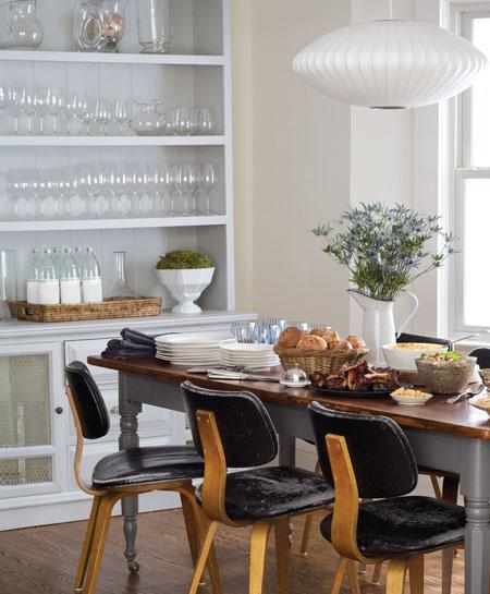 Farmhouse dining table design ideas for Modern farmhouse dining chairs