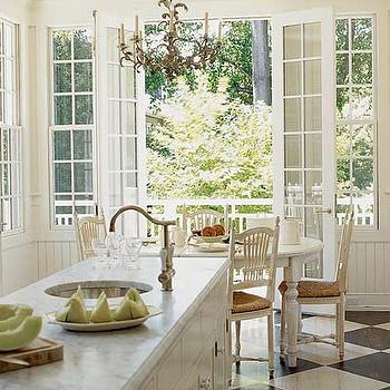 Checkered Kitchen Floor, Cottage, kitchen, My Home Ideas