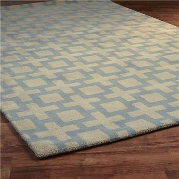 Square Trellis Tufted Rug 2 Colors, Shades of Light