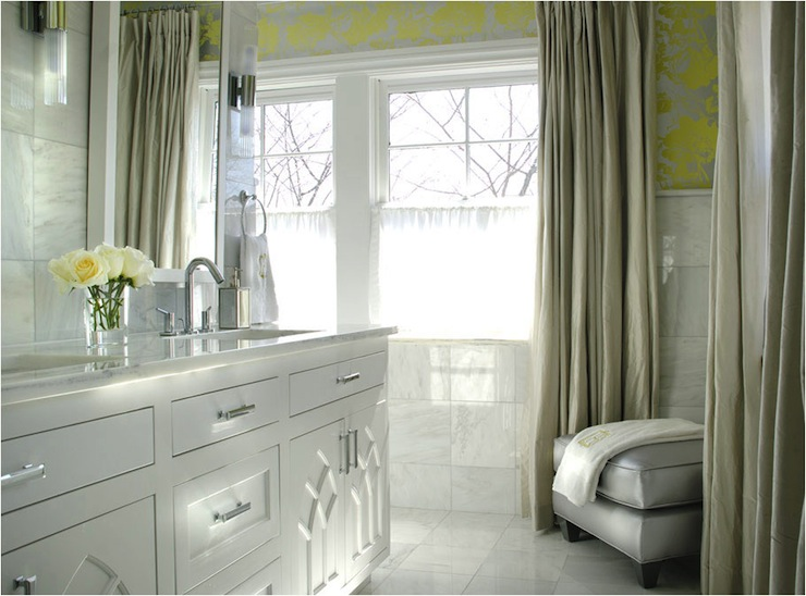 High Quality Yellow And Gray Bathroom View Full Size. White ...