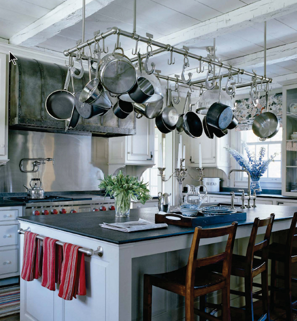 Pot Rack Over Kitchen Island Dining Table