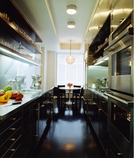 stainless steel galley kitchen modern kitchen mr