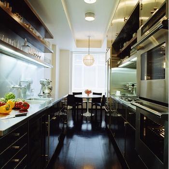 Stainless Steel Galley KItchen, Modern, kitchen, MR Architecture & Decor