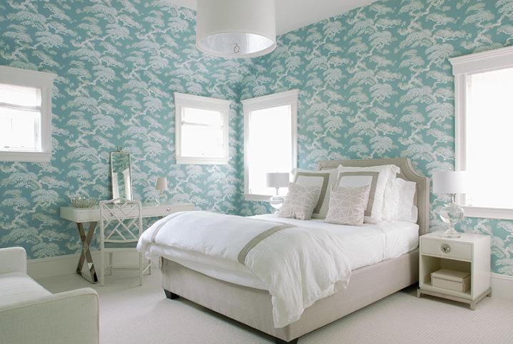 Restoration Hardware Delano Upholstered Bed, Contemporary, bedroom, Mabley Handler