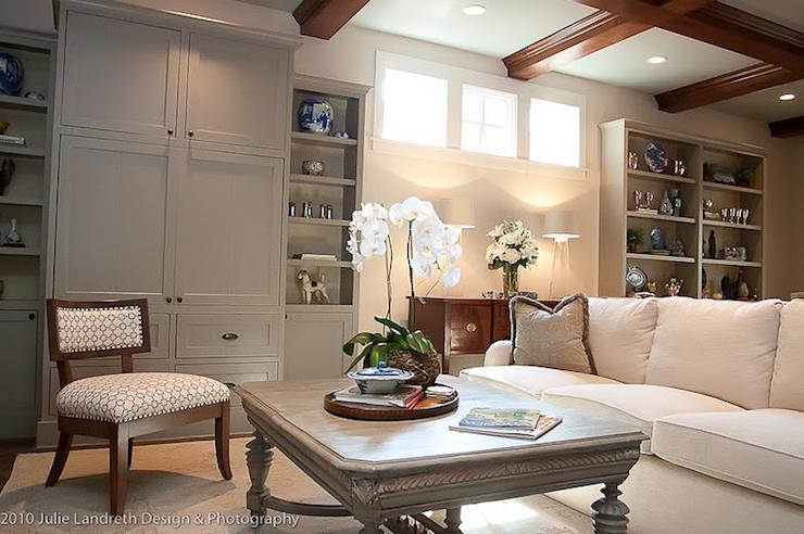 Basement Family Room : Gray Basement Family Room Design Ideas