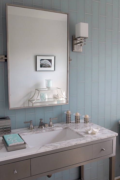 Gray and blue bathroom contemporary bathroom opal design group