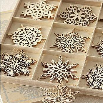 Santa Lucia Snowflake Ornaments, Garnet Hill