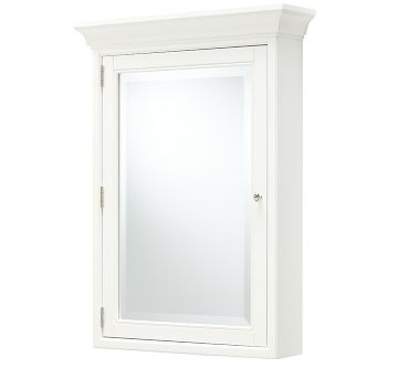 Pottery Barn Hotel Wall-Mounted Medicine Cabinet, White view full size