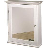 Zenith Medicine Cabinet with Mirrored Door in Classic White view full size.  Zenith Medicine Cabinet ...