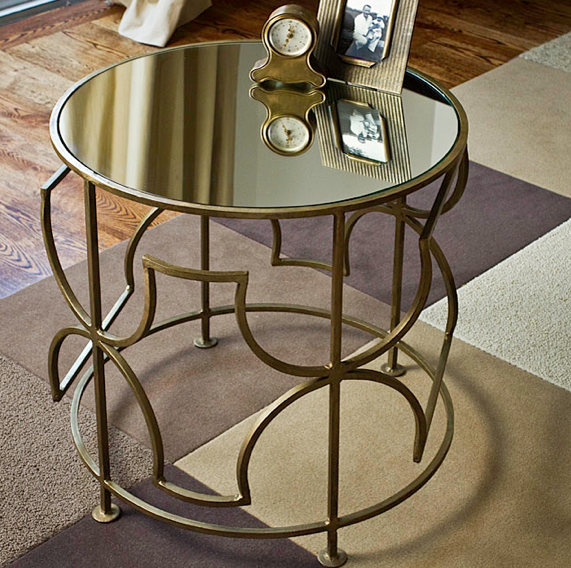 Mykonos mirrored side table look 4 less for Mirrored coffee table and end tables