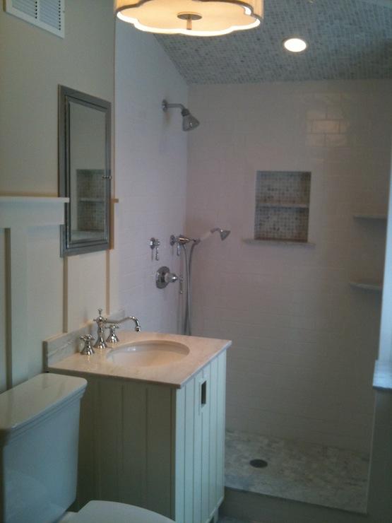 Beadboard Bathroom Cabinet Traditional Bathroom