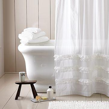 Ruffled Border Shower Curtain | West Elm