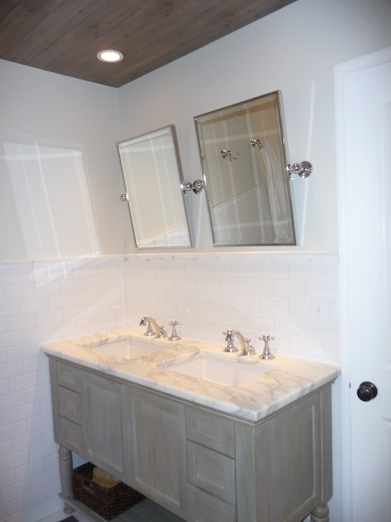 Gray Cabinets Cottage Bathroom Benjamin Moore