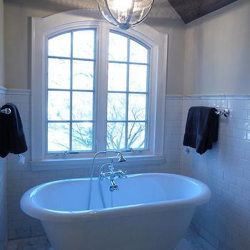 Bathtub Nook, Transitional, bathroom, Benjamin Moore tapestry beige