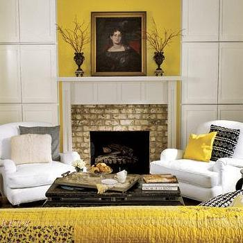 Navy And Yellow Living Room Design Ideas