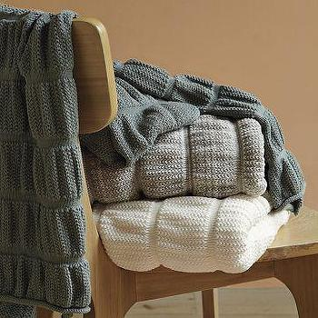 Organic Ruched Throw West Elm