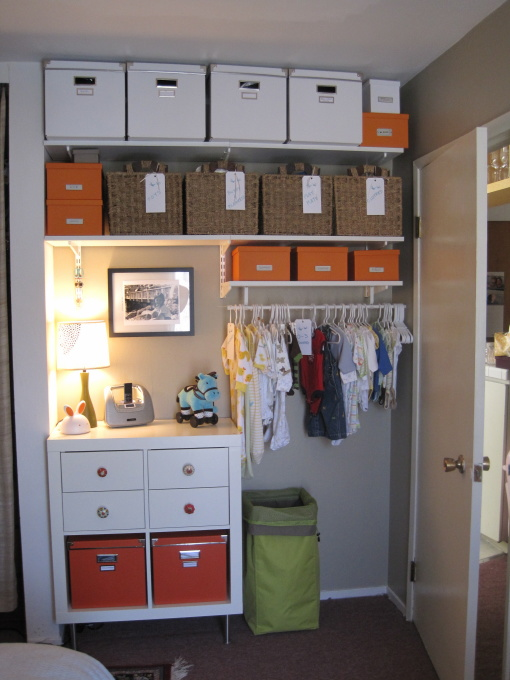 nursery closet - transitional - nursery