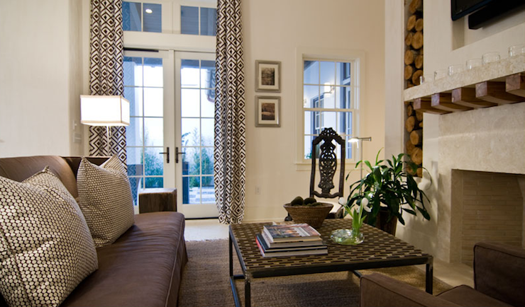 La Fiorentina Curtains Transitional Living Room