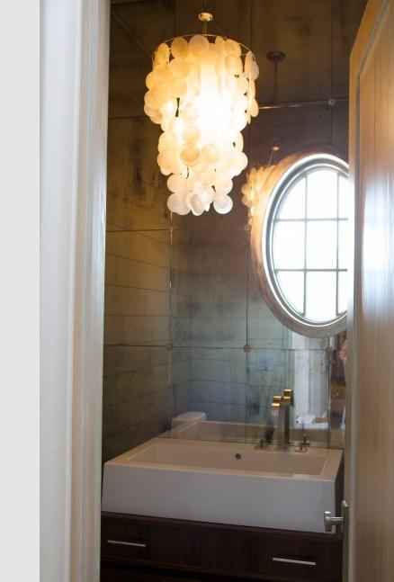 mirror backsplash contemporary bathroom tracery