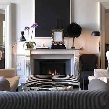 Black And White Living Room Zebra Accent Chairs Design Ideas