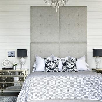 Tall Tufted Headboard, Contemporary, bedroom, Tracery Interiors