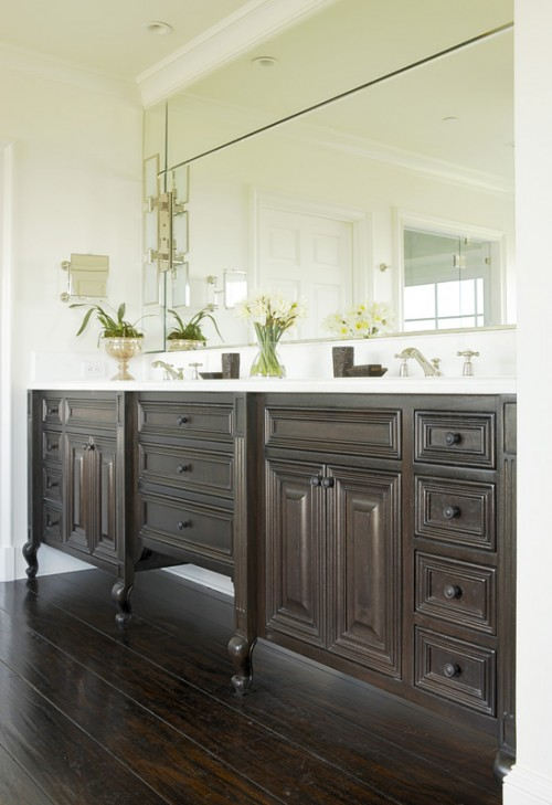 Double Vanity Ideas Transitional Bathroom Abbott Moon