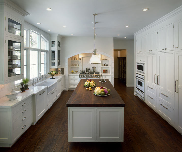 White Kitchen Butcher Block : Butcher Block KItchen Island - Traditional - kitchen - Caden Design Group