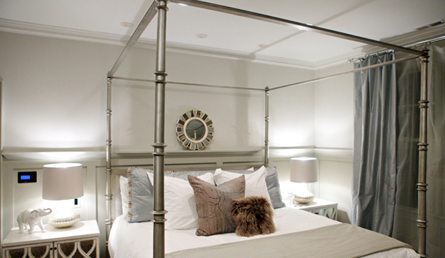 Metal Canopy Bed Contemporary Bedroom Heather