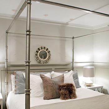 Metal Canopy Bed, Contemporary, bedroom, Heather Garrett Design