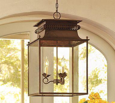 Bolton Lantern Wood Pendant