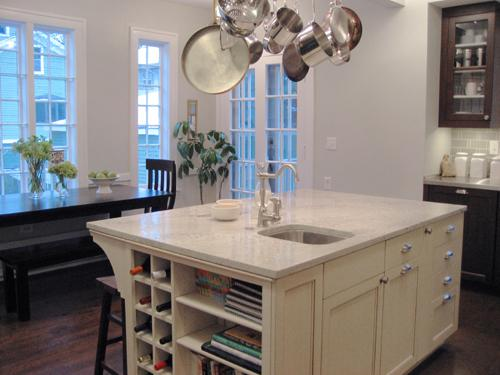 White Palasm Granite Transitional Kitchen Kitchen Lab