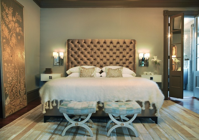 Silk Tufted Headboard Contemporary Bedroom Rethink