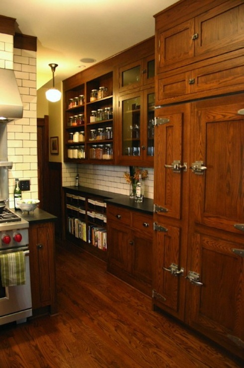 Ice Box Refrigerator Transitional Kitchen Kitchen Lab