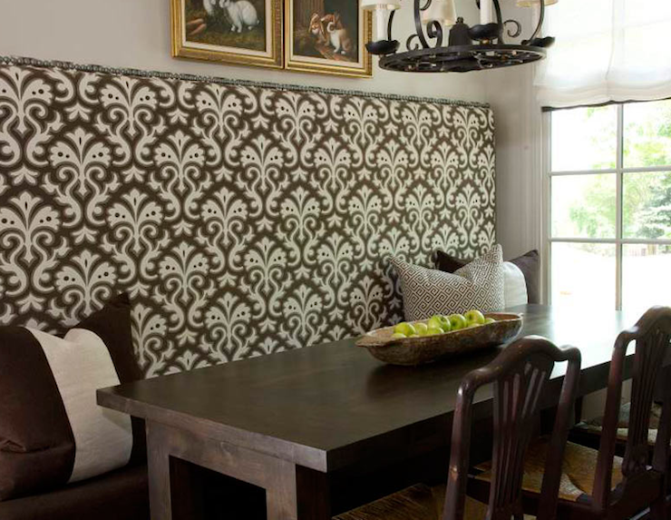 Built in banquette cottage dining room dana wolter interiors - Built in banquette dining sets ...
