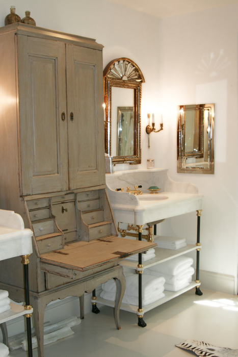 Antique Bathroom Vanity Luxury Bathroom Decoration Bathroom Design With Vintage Gray Cabinet Calcutta Marble Sink Vanity